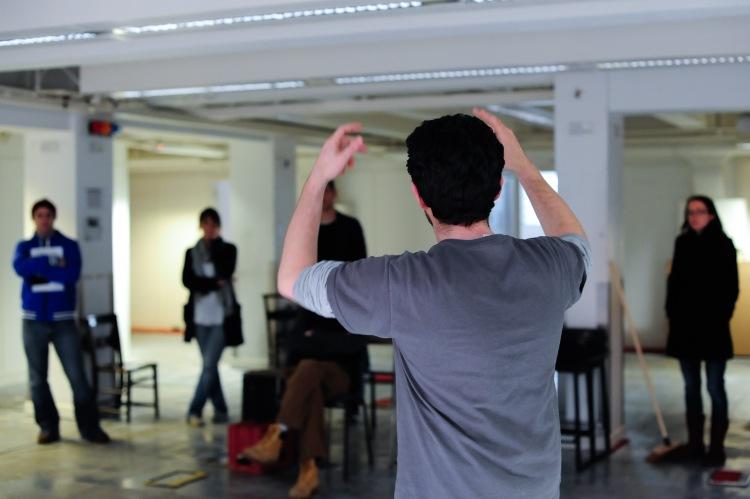 Roland Smith rehearsing Henry V