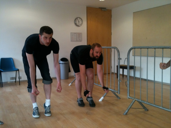Rehearsals for Pedal Pusher at the Jerwood Space